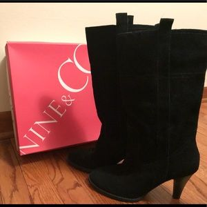 Nine & Co JJClio Black Suede Boots
